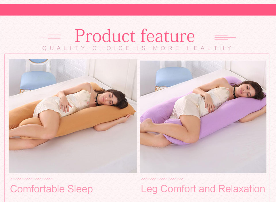 Sleeping Support Pillow For Pregnant Women Body 100% Cotton Pillowcase U Shape Maternity Pillows Pregnancy Side Sleepers Bedding (4)