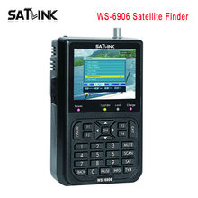 "Original Satlink WS-6906 Satellite Signal Finder 3.5"" LCD With 3000mAh Battery Support DVB-S FTA digital Satellite Meter WS6906"