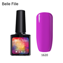 BELLE FILLE LED UV Nail Gel Polish Nude Style Easy Painting vernis gel UV Bling Giltter Gel Polish 10ML for nail protection(China)