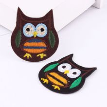 1Pcs Owl Embroidered  Iron On Patches Cloth Accessories New Arrival Popular Clothing Cartoon Patches Appliques