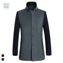 free shipping Jacket Brand Designer Slim Fit Masculina Fashion Autumn Winter Mid Length Single Breasted Men Coats Factory Direct