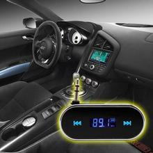 Car mp3 player wireless fm transmitter 3.5mm line in for all cell phones handsfree car kit music station aux FM Modulator(China)