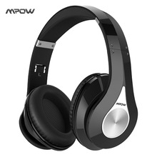 2017 Mpow Bluetooth stereo headphones wireless Bluetooth 4.0 On-Ear noisy cancel HIFI Stereo headset headphones with microphone(China)