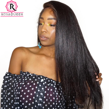 250% Density Lace Front Human Hair Wigs For Black Women Straight Pre Plucked With Baby Hair Brazilian Lace Wig Rosa Queen Remy