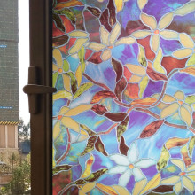 55cmx100cm European Stained Best Price Decorative Window Film Stained Glass Vinyl Privacy Covering Frosted(China)