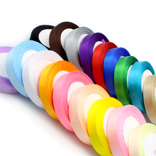1roll/lot(25yards/roll) 20mm Satin Ribbon Packing Material DIY Bow Decor Wedding Party Decoration Gift Wrapping 040007111(20)(China)