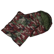High quality Cotton Camping sleeping bag,15~5 degree, envelope style, army or Military or camouflage sleeping bags(China)