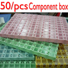 New & Genuine High quality 50pcs SMD SMT Electronic Component Mini Storage box High quality and practical Jewelry storaged case(China)
