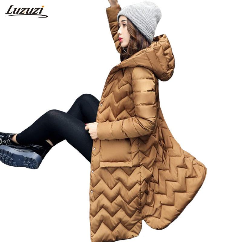 1PC Winter Jacket Women Hooded Cotton Padded Long Coats Winter Coat Women Jaqueta Feminina Inverno Chaqueta Mujer Z893Îäåæäà è àêñåññóàðû<br><br>