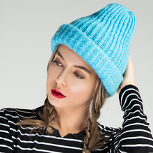 Evrfelan New Brand Winter Hat For Women Winter Hat Knitted Warm Beanies Thick Women Hat Female Ladies Hat Girls Cap Wholesale(China)