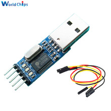 Free Shipping USB To RS232 TTL Converter Adapter PL2303 PL2303HXA Download Board Module With Flexible Cover 4Pins Cable