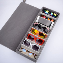 8 Slots Durable Oxford Cloth Eyeglasses Sunglasses Glasses Storage Box Bag Eyewear Display Stand Case Holder Organizer Cover