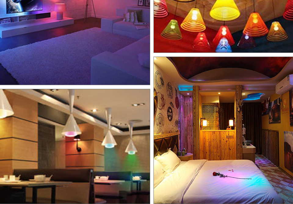 Foxanon E27 RGBW RGBWW 85-265V Led Lamps 10W LED Bulb Lamp 24Keys Remote Controller Colorful Night Light Home Lighting Decor_14