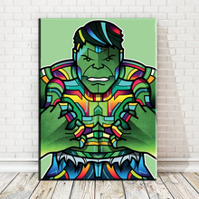xdr417 Hulk Thor Joker Spider Man Wolverine Super Heroes funny Toy Poster Wall Pictures for Living Room in Canvas Painting(China)