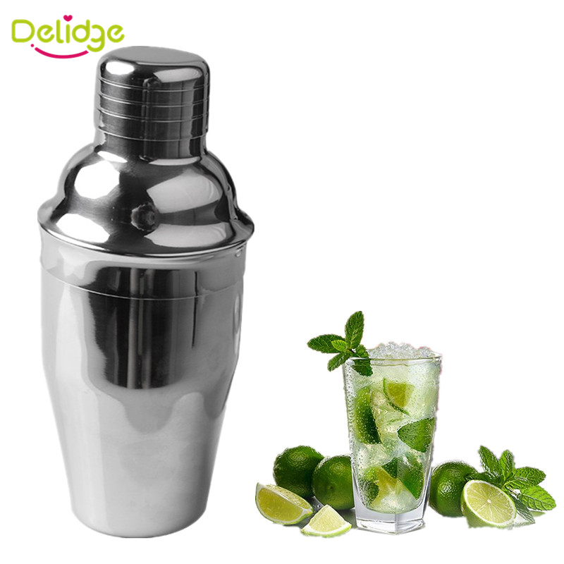 1 pc 250 ml &350 ml Cocktail Shaker Stainless Steel Bar Cocktail Mixer Drink Bartender Wine Shaker Martini Mixer Drink Shaker(China (Mainland))