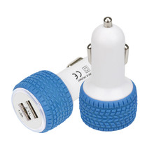 Buy 2.1A/1.0A Mini Wheel shape Dual 2 Port 12V USB Auto Car Charger Adaptor Charging P30 Support Drop July27 for $1.44 in AliExpress store