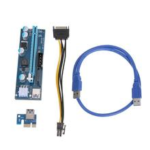 VAKIND 60cm USB3.0 PCI-E PCI Express 1x to 16x Mining Enhanced Extender Riser Adapter With SATA 15pin Male To 6pin Power Cable(China)