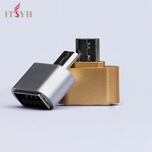ITSYH OTG Hug Fun mini Micro USB 2.0 OTG Hug Converter Camera Tablet MP3 OTG Adapter for mobile phone computer OTG cable TW-248(China)
