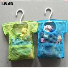 2017 NEW Hanging Bathroom Mesh Bag Creative Clothes Shape Storage Bag Tidy Bathroom Baby Bath Toy Organizer Free Shipping