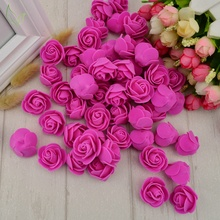 100pcs PE Foam fake flower roses head artificial flowers cheap wedding decoration for scrapbooking gift box diy wreath Multi-use(China)