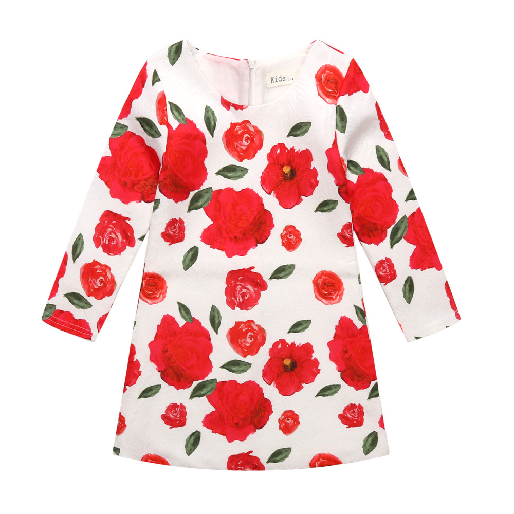 Winter Girl Dress Toddler Flower Kids Clothes for Girls Fashion Brand Children Clothing Party Wedding Holiday<br><br>Aliexpress