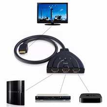 3 Port HDMI Multi Display Auto Switch Hub Box 1.3 1080P Switcher 3 in 1 out Splitter for HDTV DVD Xbox 360 PSP New arrival