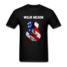 New 2017 Fashion T Shirts Novelty O-Neck Short-Sleeve Tees Willie Nelson For Men(China)