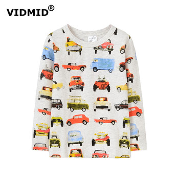 VIDMID 2-10Y Baby boys long sleeved T-shirt boys t-shirts car top cotton boys casual T-shirt children clothes age