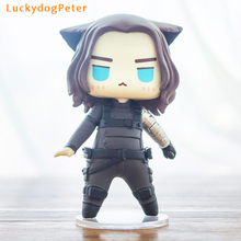The Avengers Winter Soldier Action Figure 1/9 scale painted figure Cute Ver. Cat cos Winter Soldier Bucky Doll PVC ACGN figure(China)