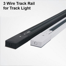 DHL 1M 3 Wire 1 Phase Circuit Aluminium Track Rail For LED Spotlight Lighting Track Systems Spot Light Rail 1 Meter Black White