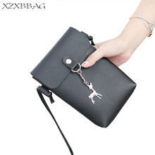XZXBBAG Women Cute Deer Mini Messenger Bags Girl Simplicity Casual Cell Phone Pocket Students Crossbody Case Girl Shoulder Bags(China)