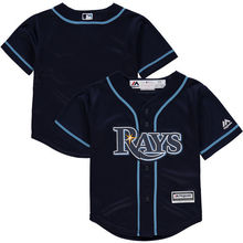 MLB Toddler Tampa Bay Rays Baseball Navy Alternate Official Cool Base Team Jersey(China)