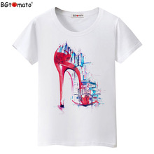 BGtomato Super fashion art T-shirts Women's popular trend tops Summer cool clothes Original brand new design fashion shirts