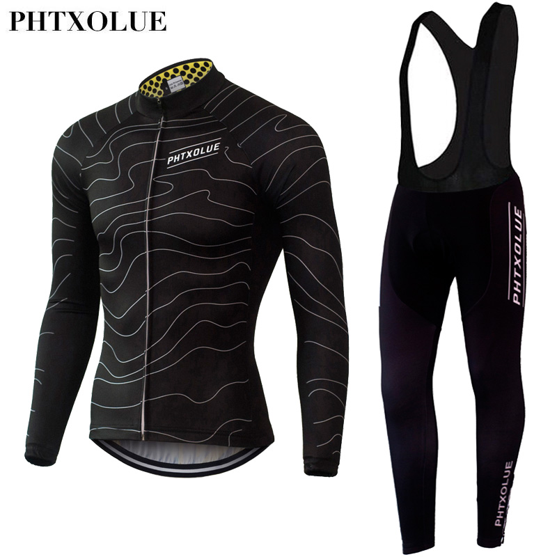 Phtxolue Summer Autumn Mens Long Sleeve Cycling Jerseys Sets Breathable 3D Padded Bicycle Sportswear Cycling Clothing QY061<br>