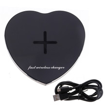 Portable Wireless Fast Charging Pad Plate Charger Love Heart For Samsung Galaxy S7 QI