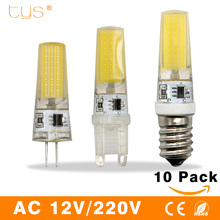 10PCS/Lot Lampada LED Lamp G4 AC/DC 12V 220V 3W 6W 9W COB E14 LED Bulb G9 Lighting Lights replace Halogen Spotlight Chandelier(China)
