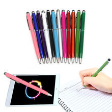 2 in 1 Universal Touch Screen Stylus Pen Ballpoint For iPhone iPad Smartphone PC Tablet Computer Wholesale Cheaper