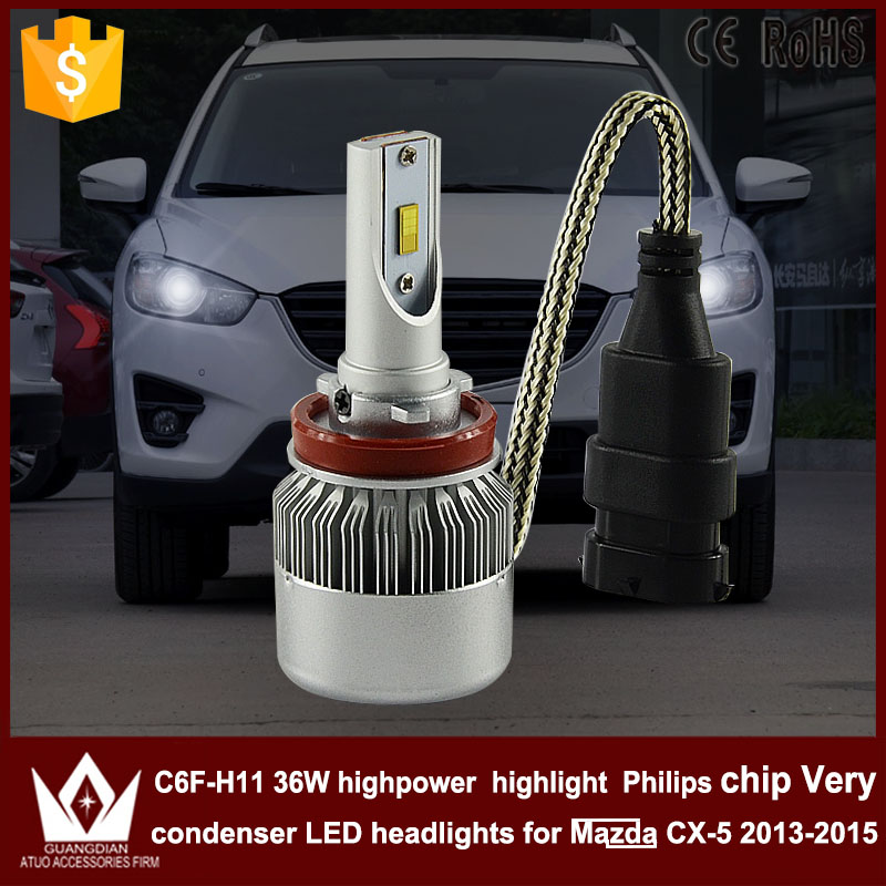 Guang Dian car led light Fog lamp Fog light C6F 6000K white 12V 36W 3800LM H8 / H9 / H11 Fit for mazda cx-5 2013-2015 only<br><br>Aliexpress