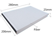 Free Shipping CU2882 ODM Manufacture 3B1819644A High Quality Best Price Fiber Car Cabin Air Filter for SEAT 280*206*25mm