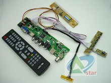 "TV+HDMI+VGA+AV+USB+AUDIO TV 15.6"" CLAA156WA01A B156XW01 V.2 LP156WH1-TLA3 TL1366*768 LCD controller board DIY kits(China)"