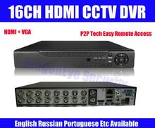 CCTV DVR Recorder 16ch HDMI Security CCTV Standalone DVR 1ch Audio Input P2P Technology Easy Remote Access mobile Phone monitor