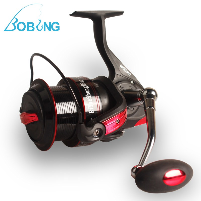 Bobing 13+1BB 9000-11000 Series Long Shot Wheel Metal Max Drag Power Casting Carp Bass Sea Spinning Spool Fishing Reel<br>