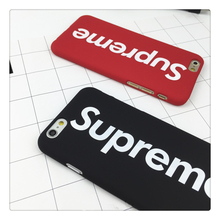 Fashional brand suprem mens case for iphone5s case for iphone 6 6s plus 7 7plus se 5 hard rubber stylish logo letter phone cover