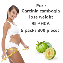 5 Packs 300 Tablets Nature Fast Weight lost Products Burning Fat 100% Pure garcinia cambogia extract Slim body(China)