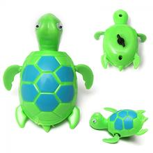 Random Color!!1 Pcs Cute New Swimming Wind Up Turtle Pool Animal Floating Toys For Baby Kids Wholesale(China)