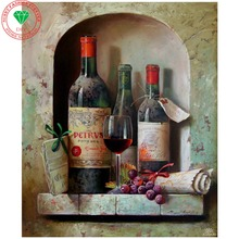 5d diy diamond painting Landscape Wine cross stitch tiger picture mosaic kit diamond embroidery Wine hobbies crafts needlework