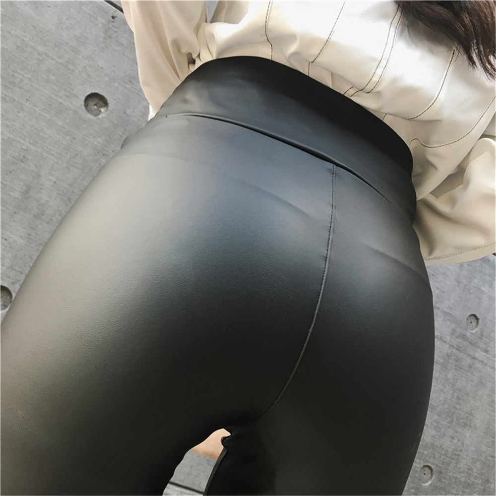 Pu Leather Leggings Black Push Up High Waist Leggings Women Plus Size Legging Sexy Pants Women Leggins title=