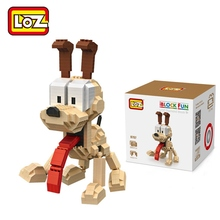 LOZ Single Sale Mini Odie Dog Cartoon Dolls Diamond Bricks Garfield Assemble Building Blocks Toys for Children 9757(China)