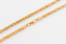 High Quality String Rope Chain plated Filled Gold Couple Necklace Workmanship Fine Price Cheap Jewelery Width 4mm