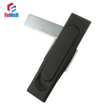 MS717-2 Metal Black Plane Lock without Key for Cupboard Cabinet Door Lock(China)